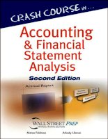 CRASH COURSE IN ACCOUNTING AND FINANCIAL STATEMENT ANALYSIS, SECOND EDITIONMATAN FELDMAN ARKADY doc