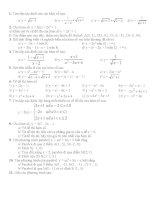 Tìm tập xác định của các hàm số pptx