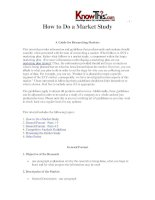 How to Do a Market Study A Guide for Researching Markets This tutorial provides information pdf