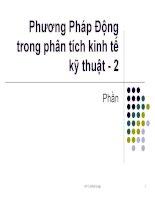 Phương pháp động trong phân tích kinh tế kỹ thuật - 2 potx