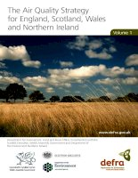 The Air Quality Strategy for England, Scotland, Wales and Northern Ireland Volume I pdf