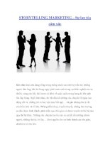STORYTELLING MARKETING – Sự lan tỏa cảm xúc pdf