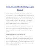 7 điều mà social Media không thể giúp chúng ta docx