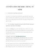 CÓ NÊN CHO TRẺ HỌC TIẾNG TỪ SỚM pdf