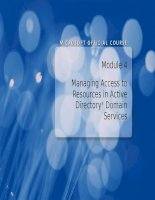 Module 4 Managing Access to Resources in Active Directory Domain Services docx