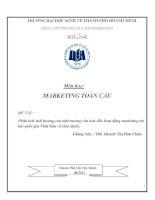 Đê2 Tài: Phân tích ảnh hưởng của môt trường văn hóa đến hoạt động marketing tại hai quốc gia Nhật Bản và Hàn Quốc. docx