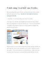 5 tính năng ''''ít ai biết'''' của Firefox ppt