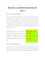 Role-play – một phương pháp dạy học thú vị docx