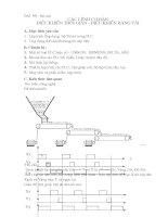 Bài tập về các lệnh cơ bản Điều khiển thời gian-Điều khiển băng tải