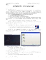 Bài giảng SolidWorks 2008 pptx