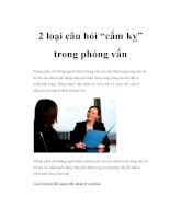 """2 loại câu hỏi """"cấm kỵ"""" trong phỏng vấn docx"""