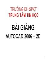 Vẽ kỹ thuật với AutoCad 2006 -BÀI 1 ppt