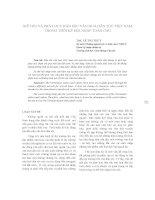báo cáo khoa học  'giữ gìn và phát huy bản sắc văn hoá dân tộc việt nam trong thời kỳ hội nhập toàn cầu'