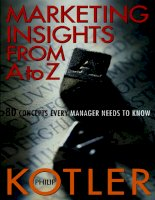 Marketing Insights From A To Z-80 Concepts Every Manager Needs to Know pot