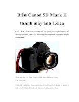 Biến Canon 5D Mark II thành máy ảnh Leica ppt