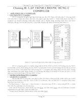 Chương II: LẬP TRÌNH CHO PIC DÙNG C COMPILER pot