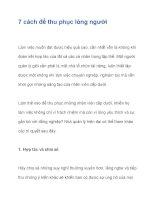 7 cách để thu phục lòng người potx