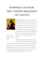DANH HỌA VAN GOGH MỘT TÂM HỒN KHAO KHÁT YÊU THƯƠNG docx