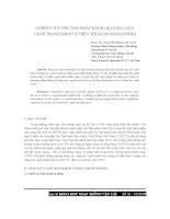 báo cáo khoa học  'nghiên cứu phương pháp đánh giá năng lực cạnh tranh dịch vụ điện thoại di động (đtdđ)'