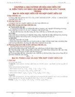 Hóa học hữu cơ và hợp chất hữu cơ pptx