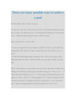 There are many possible ways to achieve a goal doc