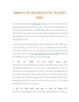 """NHỮNG CÂU HỎI PHỎNG VẤN """"XƯƠNG"""" NHẤT pdf"""