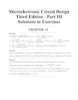 Microelectronic Circuit Design Third Edition - Part III Solutions to Exercises doc