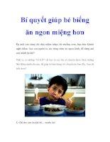 Bí quyết giúp bé biếng ăn ngon miệng hơn pot