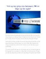 Với sự trợ giúp của Internet, PR có thực sự lên ngôi? ppsx