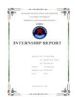 báo cáo khoa học  internship report