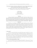 báo cáo nghiên cứu khoa học  ' ứng dụng rơle so lệch trở kháng thấp 7ss601 để bảo vệ cho thanh góp trong hệ thống điện'
