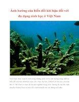 Ảnh hưởng của biến đổi khí hậu đối với đa dạng sinh học ở Việt Nam pdf