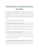 Cách thiết kế giáo án và đánh giá kết quả học tập – Phần 2 pdf