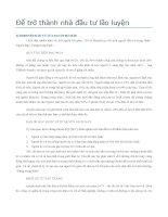 Tập III: Để trở thành nhà đầu tư lão luyện docx