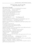 ĐỀ THAM KHẢO - THI THỬ ĐẠI HỌC môn Sinh