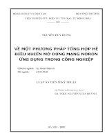 Luận văn: VỀ MỘT PHƯƠNG PHÁP TỔNG HỢP HỆ ĐIỀU KHIỂN MỜ DÙNG MẠNG NƠRON ỨNG DỤNG TRONG CÔNG NGHIỆP pdf