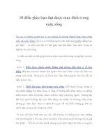10 điều giúp bạn đạt được mục đích trong cuộc sống ppt
