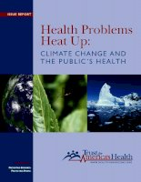 Health Problems Heat Up: CLIMATE CHANGE AND THE PUBLIC'S HEALTH doc