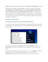 20 thủ thuật hay nhất cho menu Start và Taskbar trong Windows 7 – P.1 pot