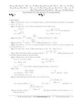 Bài tập Giải tích 12