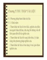Quy hoạch thực nghiệm - Chương 5:THU THẬP TÀI LIỆU pptx