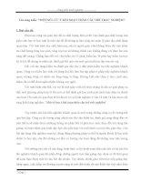 Một số lưu ý khi soạn thảo câu trắc nghiệm môn toán