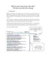 SEO và các bước thực hiện SEO (Tài liệu sưu tầm trên mạng) ppt