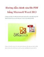 Hướng dẫn chỉnh sửa file PDF bằng Microsoft Word 2013 ppt