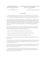 Thông báo số 2325/TB-BNN-VP potx