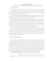 GIẢI PHÁP NÂNG CAO CHẤT LƯỢNG ĐỔI MỚI PHƯƠNG PHÁP DẠY HỌC