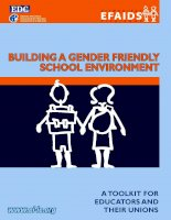 Building a gender Friendly School environment ppt