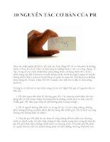 10 NGUYÊN TẮC CƠ BẢN CỦA PR potx