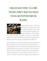 CHAM SOUTINE VÀ CHỦ NGHĨA HIỆN ĐẠI TẠI BẢO TÀNG KUNSTMUSEUM, BASEL ppt