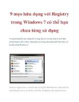 9 mẹo hữu dụng với Registry trong Windows 7 có thể bạn chưa từng sử dụng docx